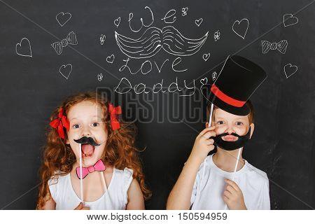 Happy children draw