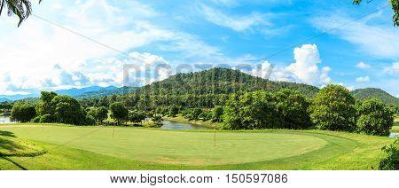 Golf Course Landscape Panorama