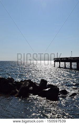 Photograph of Centre Island pier, Toronto, Ontario