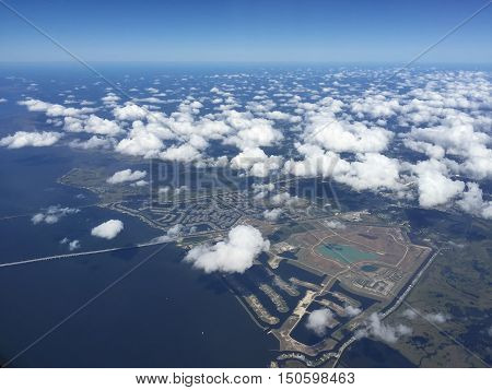 Aerial View Of New Orleans Mississippi River Basin