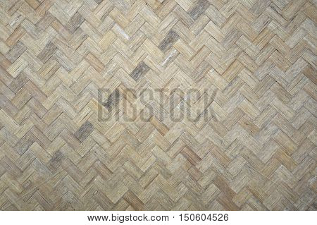 close up dry woven bamboo pattern texture