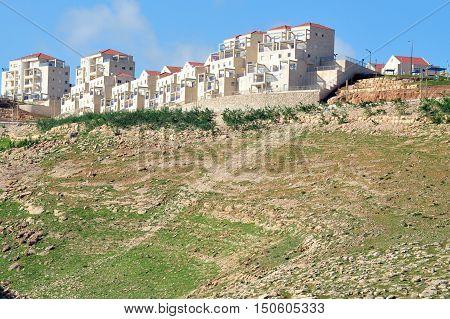Citysacpe of Maale adumim city near Jeruslame Israel.