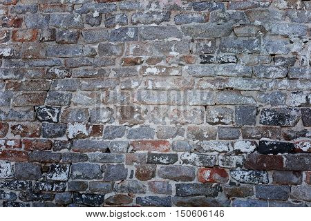 Background of very old brick wall texture. vintage and retro background