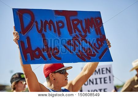 Protesters At Donald Trump Campaign Rally