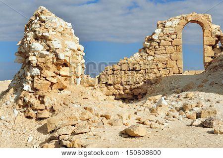 Ancient Nitzana Fort  In South Israel