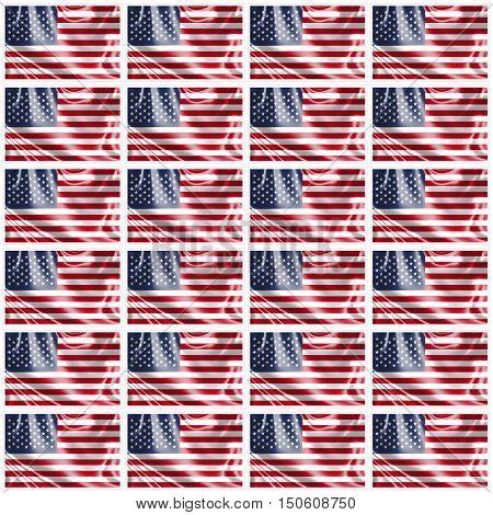 Stamp image of american flag twenty four piece