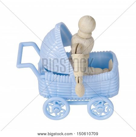Stroller used to transporting children easily - path included