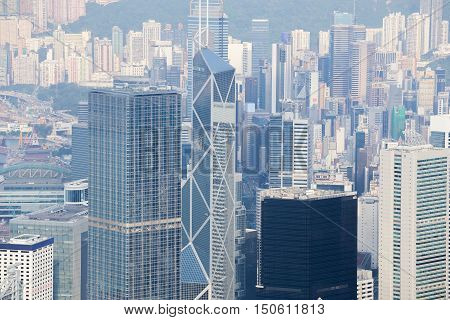 Hong Kong City, View From The Peak