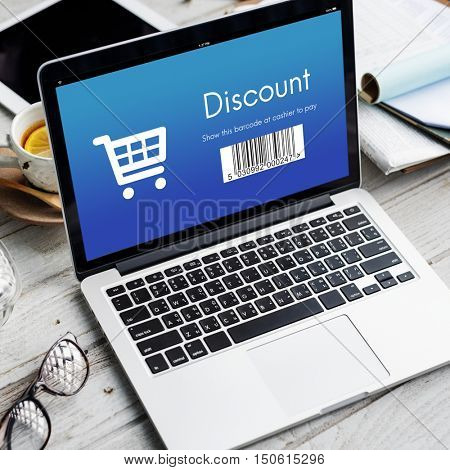 Discount Purchase Order Shopping Concept