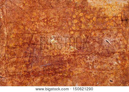 Old Rusty Grunge Metal Wall