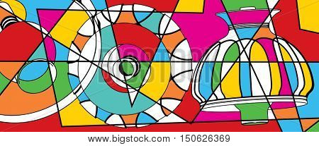 abstract background, pop art illustration