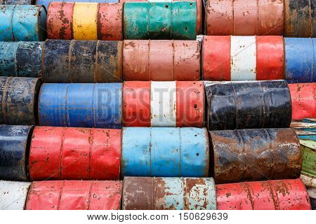 old empty barrels containing hazardous chemicals. Located near the communities where jeopardy