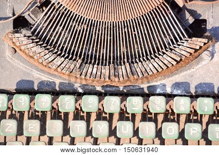 Rusty Old Vintage Typewriter
