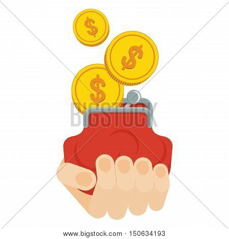 Hand Holds Purse With Money