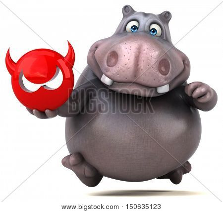 Hippo - 3D Illustration