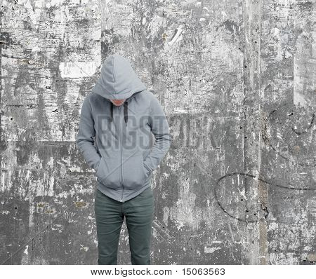 Dodgy guy with hoodie