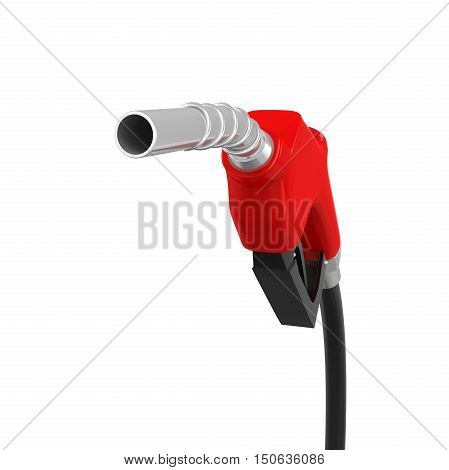 Gas Pump Nozzle isolated on white background. 3D render