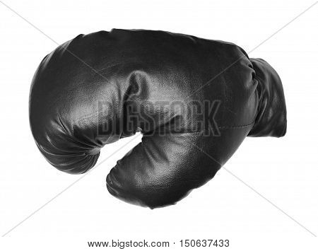 One boxing glove isolated on a white background.