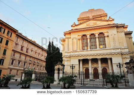 Jewish Synagogue In Rome, Italy