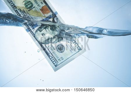 money laundering (illegal cash dollars bill shady money corruption manipulation) poster