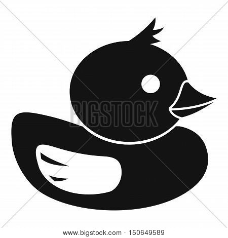 Duck icon in simple style on a white background vector illustration