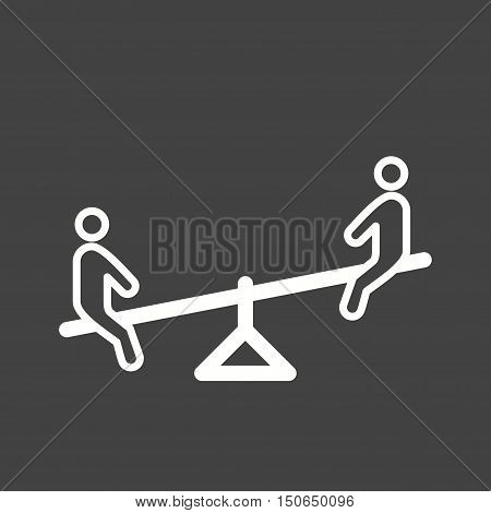 Playground, kids, seesaw icon vector image. Can also be used for kids. Suitable for web apps, mobile apps and print media.