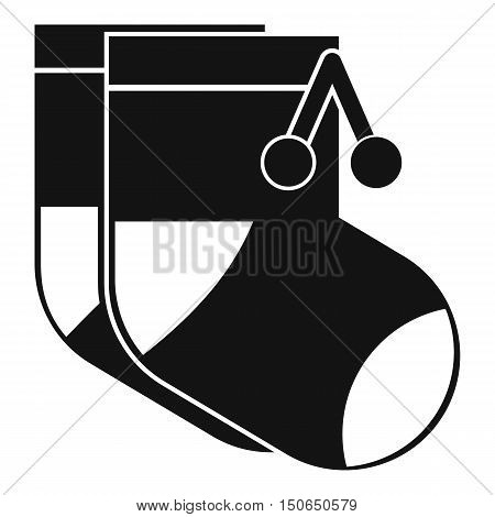 Baby socks icon in simple style on a white background vector illustration
