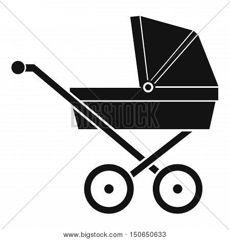 Baby carriage icon in simple style on a white background vector illustration