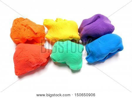 Colorful clay. Rainbow
