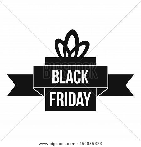 Black friday ribbon icon in simple style on a white background vector illustration