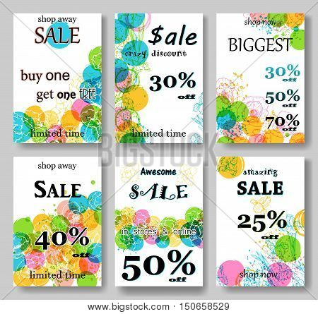 Modern eye catching social media sale banners. Vector illustrations for website and mobile website banners, posters, email and newsletter designs, ads, promotional material. Black Friday sale
