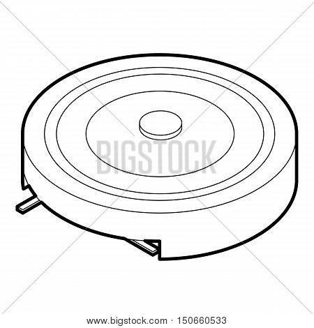 Electric portable stove icon in outline style on a white background vector illustration