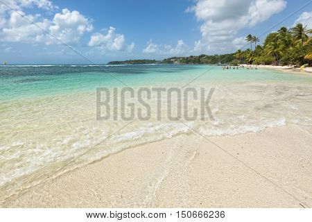 Caribbean Sea beach on Guadeloupe, French Antilles