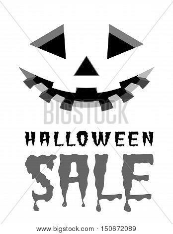 Halloween sale vector background with pumpkins lantern.