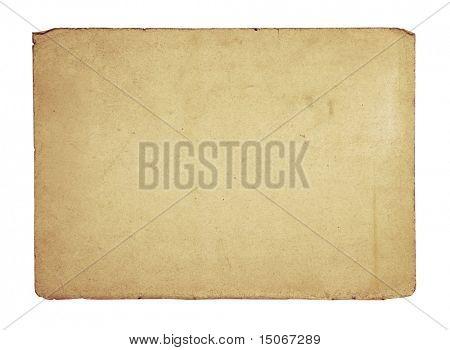 alte Papierstruktur isoliert auf weißem Hintergrund mit Beschneidungspfad