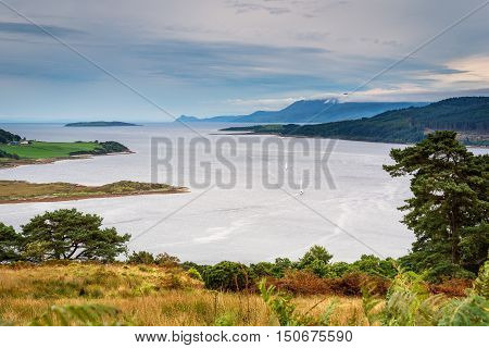 Sails on the Kyles of Bute, also known as Argyll's Secret Coast in the Firth of Clyde, is popular for sailing