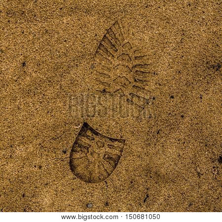 Footprint, footprint in the sand, human footprint, man footprint, tracks