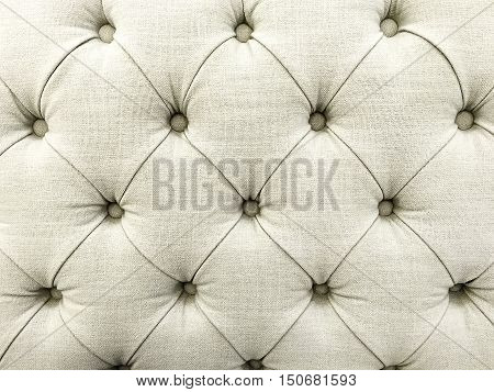 Background Pattern Closed up of Abstract Texture of white Fabric Sofa or Upholstery Background