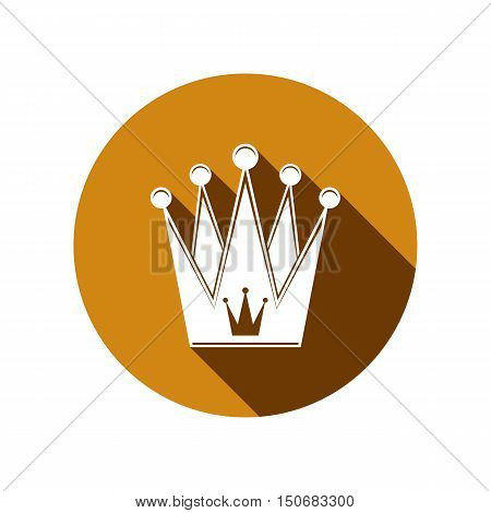 Royal design element regal icon. Stylish majestic 3d crown luxury coronet illustration. Imperial three-dimensional symbol.