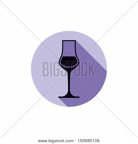 Sophisticated wine goblet stylish alcohol theme illustration. Classic wineglass