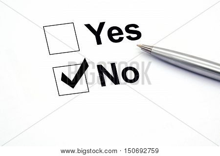 pen over document select No. business checkbox