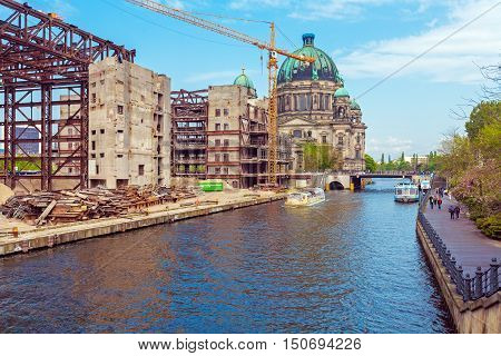 Berlin Cathedral And The Spree River, Germany