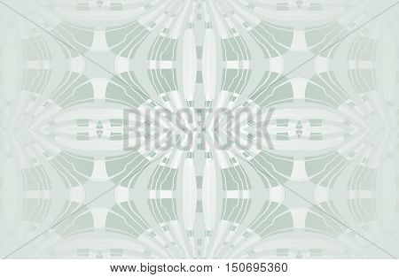 Abstract geometric seamless background light gray shiny, single color. Regular ellipses ornaments with wiggly lines, centered and blurred.