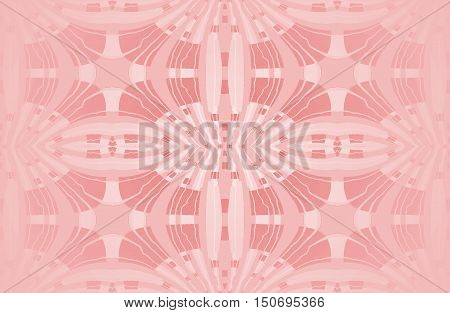 Abstract geometric seamless background pink monochromatic single color. Regular ellipses ornaments with wiggly lines, centered and blurred.