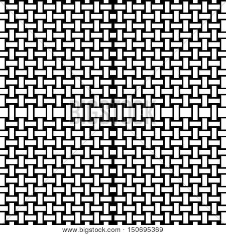 Abstract geometric seamless background. Regular rectangles pattern, black and white structure, coloring page.