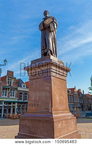 The Monument To The Dutch Lawyer Hugo Grotius In Delft, Netherlands