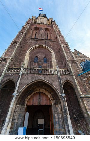 The Building Of The New Church In Delft, Netherlands