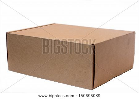 Cardboard box on a white background. Cardboard Box isolated