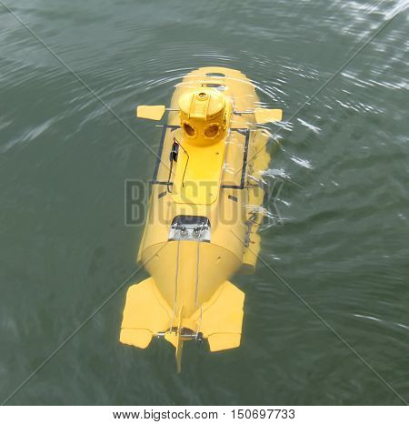 A Radio Controlled Model of an Underwater Survey Craft.