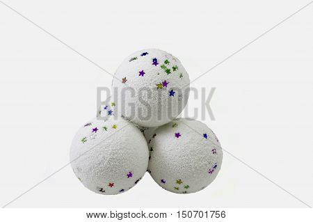 toy snowball isolated on isolated white background